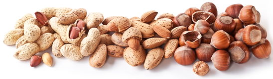 Group mixed nuts. Royalty Free Stock Images