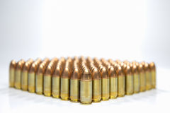 Group of 9 mm bullet Royalty Free Stock Photo
