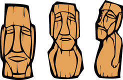 Group of Moai Royalty Free Stock Photo