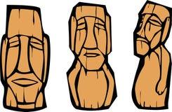 Group of Moai Royalty Free Stock Photo