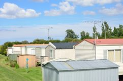 Group of mobile homes Royalty Free Stock Photos