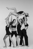 The group of modern ballet dancers stock photography