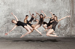 The group of modern ballet dancers. Series of photos Royalty Free Stock Photo