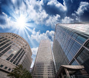 Group of Modern Buildings in London Financial District, beautifu Stock Image