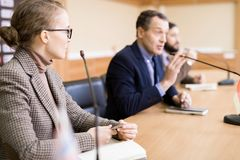 Group of Business People in Conference stock photography