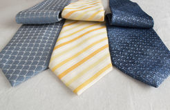 A group of modern neckties Royalty Free Stock Images