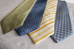 A group of modern neckties Stock Photo