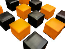 Group of Modern Squre Chair Stock Photo