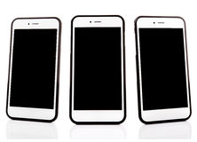 Group of modern touch screen smartphone Stock Image
