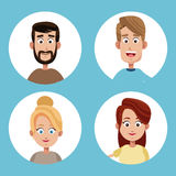 Group mom and dad family. Illustration eps 10 Stock Photo