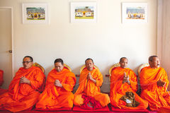 Group of monk while praying Royalty Free Stock Photography