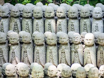 Group of monk statues Stock Photos