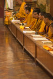 Group of monks praying Royalty Free Stock Photography