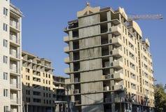 Group monolithic concrete houses Stock Image