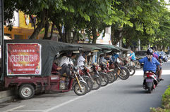 Group motorcycle taxi service Stock Image