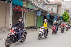 Group of motorcyclists Stock Image