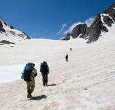 Group of mountaineers Stock Photography