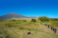 A group of mountaineers Rinjani Lombok Indonesia Royalty Free Stock Photography