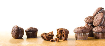 Group of muffins Royalty Free Stock Images