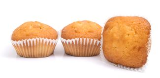 Group of muffins isolated on stock images