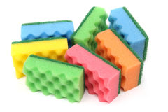 Group of multi-colored sponges Stock Photography
