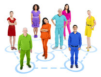 Group of Multi-Ethnic Colorful World People Stock Images