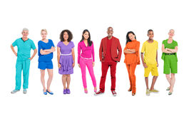 Group of Multi-Ethnic Colorful World People Stock Photo