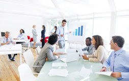 Group of Multi Ethnic Corporate People Having a Business Meeting Royalty Free Stock Image