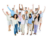 Group of Multi Ethnic Diverse People Celebrating Stock Image