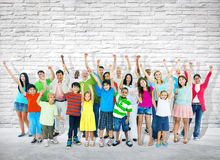 Group of Multi-Ethnic People Celebrating Success Royalty Free Stock Images