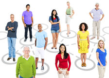 Group Of Multi-Ethnic People In A Connection Themed Picture Stock Photo