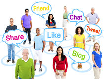Group Of Multi-Ethnic People In A Connection Themed Picture With Stock Photo