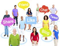 Group Of Multi-Ethnic People In A Connection Themed Stock Photography