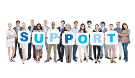 Group Of Multi-Ethnic People Holding The Word Support Stock Photography