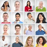 Group of multi ethnic people posing Stock Photo