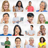 Group of Multi Ethnic People Posing Stock Photography