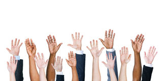 Group Of Multi-Ethnic People's Arms Outstretched Royalty Free Stock Photo