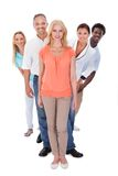 Group Of Multi-ethnic People Standing In A Row Royalty Free Stock Photography