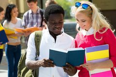 Group of multi-ethnic students royalty free stock image