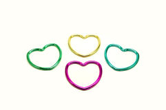 Group of multicolored hearts Stock Photo