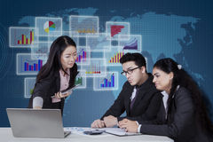 Group of multicultural entrepreneurs in a meeting Royalty Free Stock Image