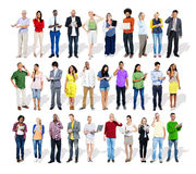 Group of Multiethnic Business People with Digital Devices.  royalty free stock photos