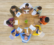 Group of Multiethnic Business People in Meeting Stock Photo