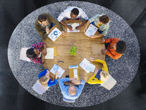 Group of Multiethnic Business People in a Meeting Royalty Free Stock Photo