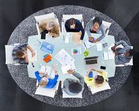 Group of Multiethnic Business People in a Meeting Stock Photography