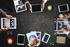 Group of Multiethnic Busy People Working in an Office royalty free stock images