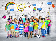 Group of Multiethnic Cheerful Children Royalty Free Stock Images