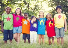 Group of Multiethnic Cheerful Children Stock Photo