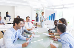 Group of Multiethnic Corporate People having a Business Meeting