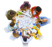 Group of Multiethnic Designers Planning for a New Project.  stock image